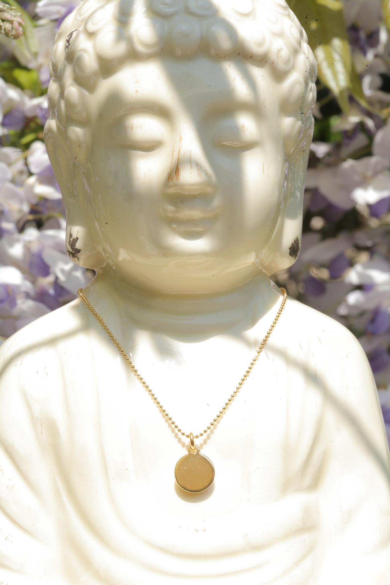 artjany vergoldete Halskette Plättchen