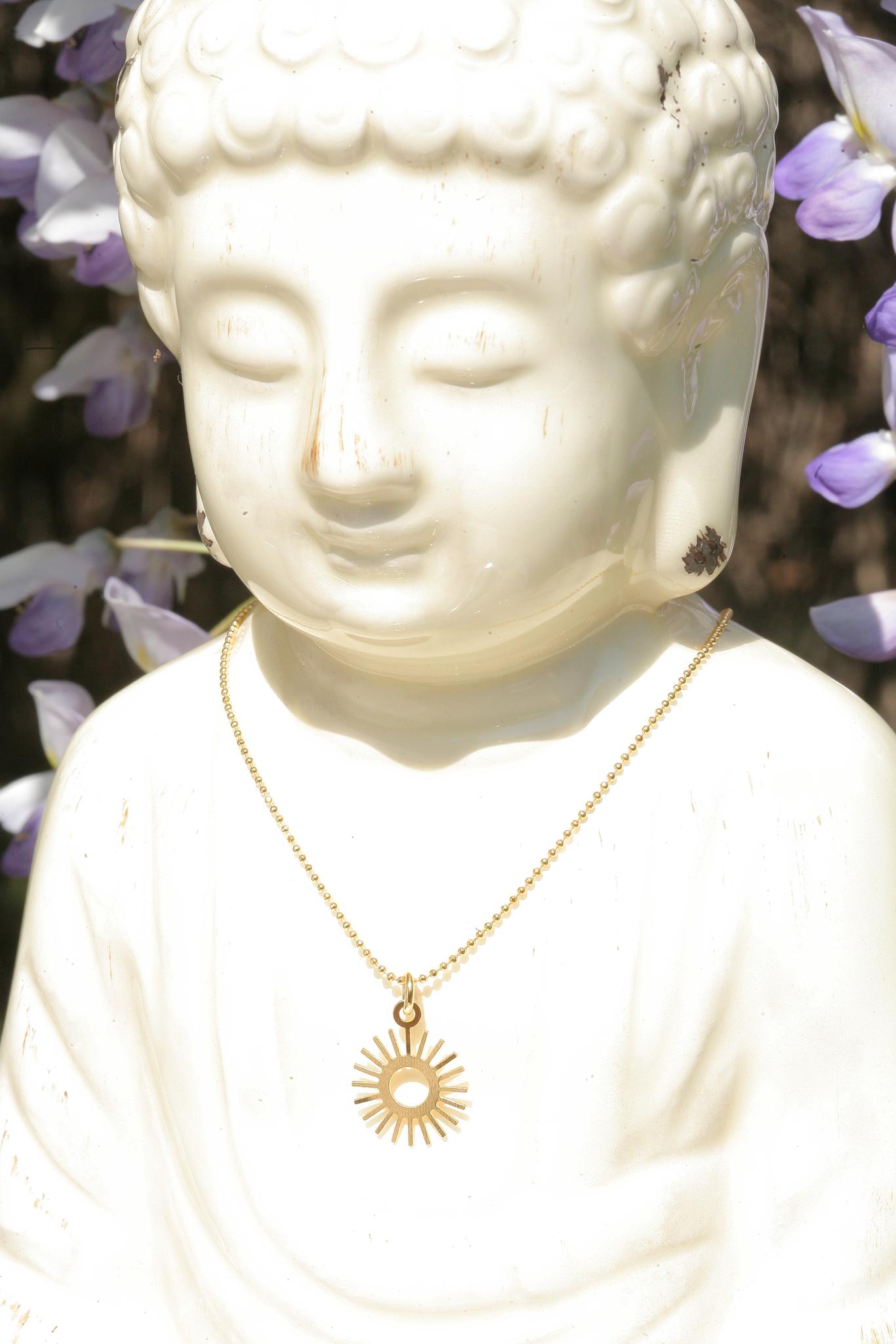 artjany vergoldete Halskette Sonne