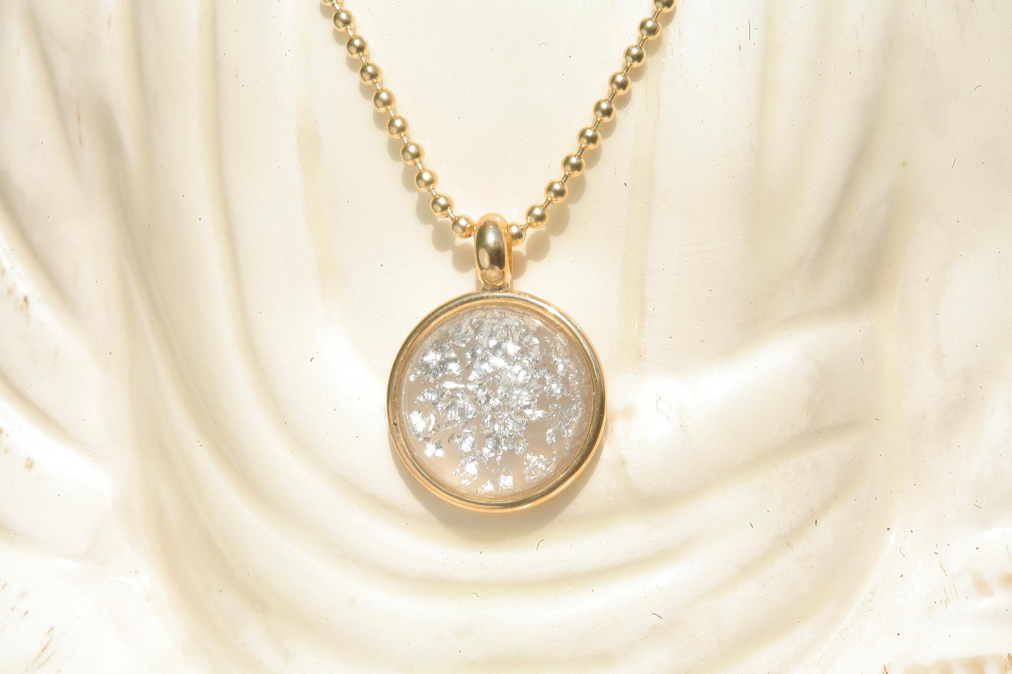 artjany vergoldete Halskette crystal crash