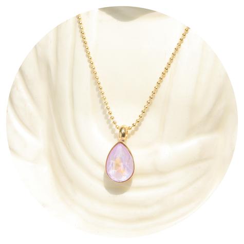 artjany vergoldete Halskette in lavender delite