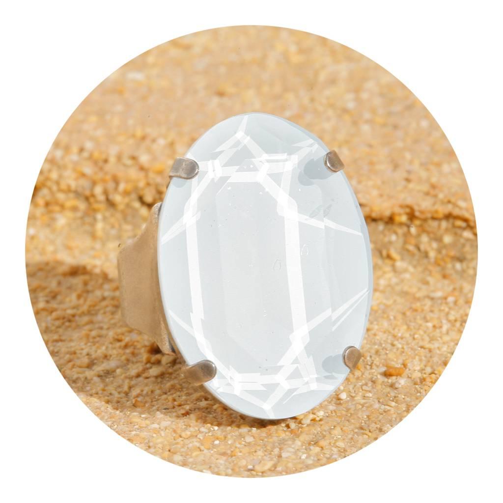 artjany Ring mit einem crystal from Swarovski in powder blue