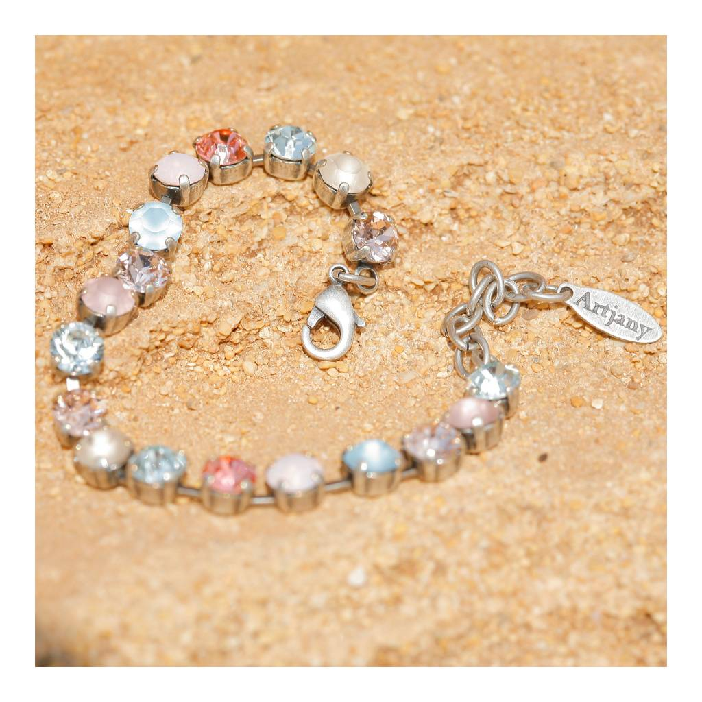 artjany Armband mit crystals in rose blau
