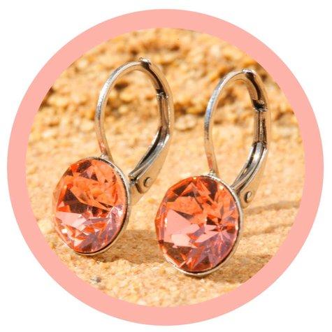 artjany Ohrhänger mit crystals in rose peach