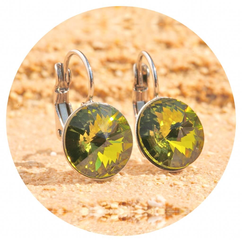 artjany Ohrhänger mit crystals in olivine