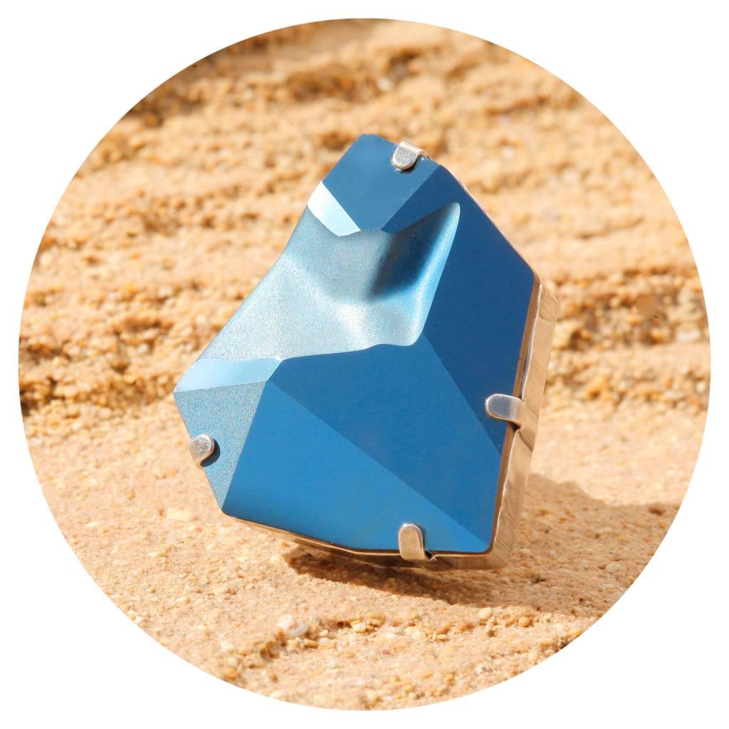 artjany Ring mit einem crystal designed by Jean Paul Gaultier