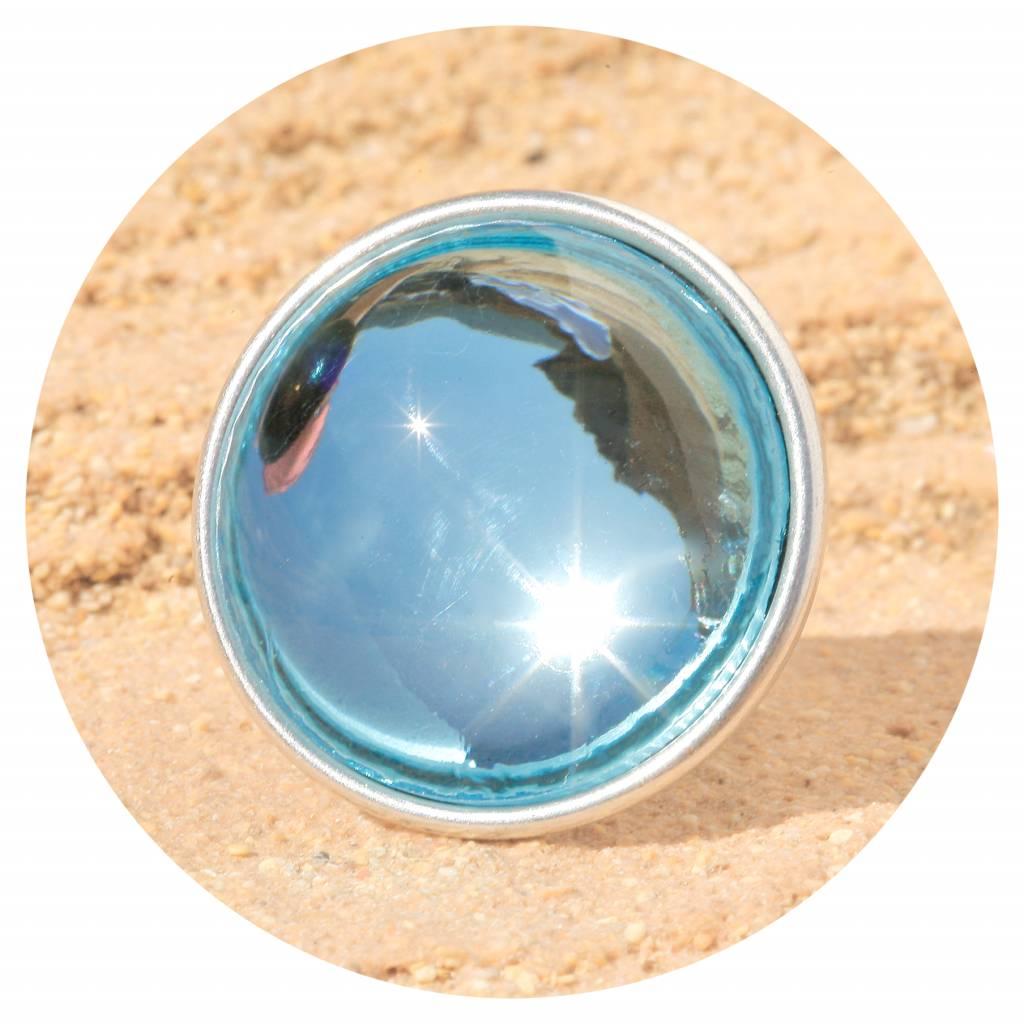 artjany Ring mit einem Cabochon in aquamarine