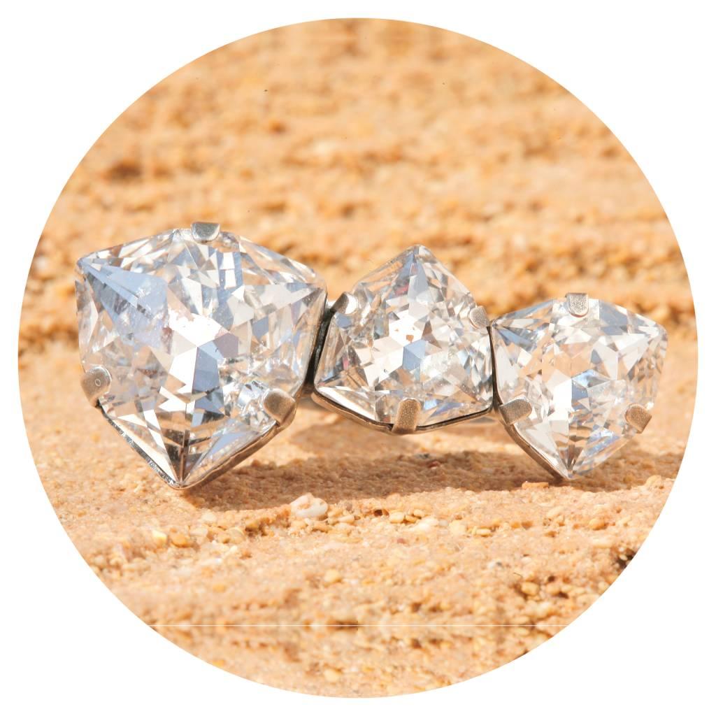 artjany Trillant Ring mit Kristallen in crystal