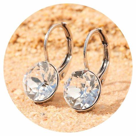 artjany Ohrhänger mit Kristallen in crystal