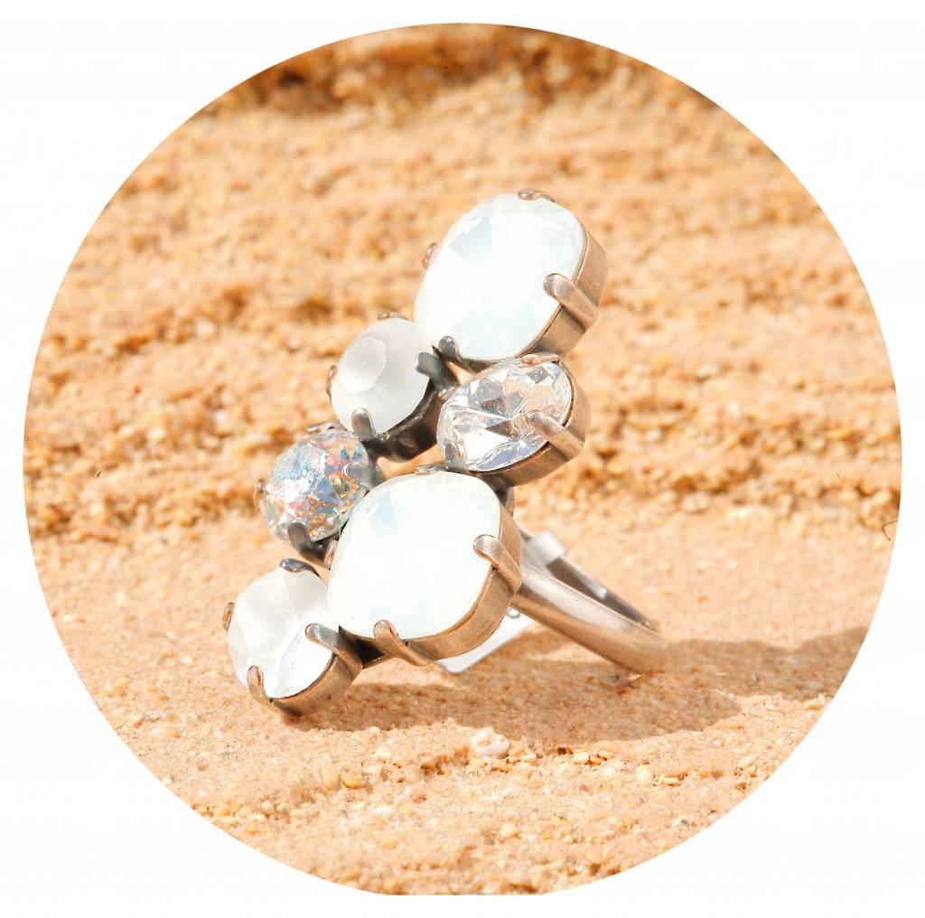 artjany Ring mit Kristallen in weiss