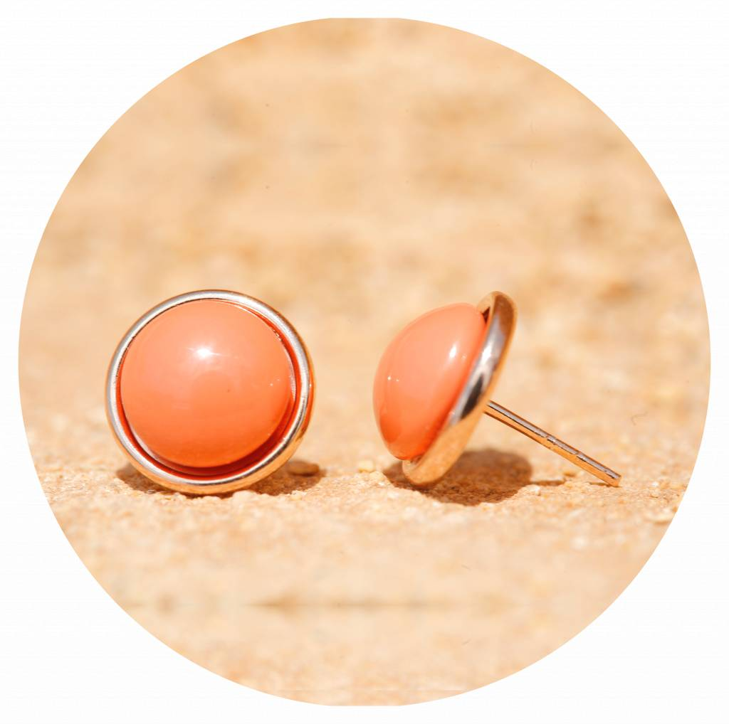 artjany Ohrring mit pearls in coral red
