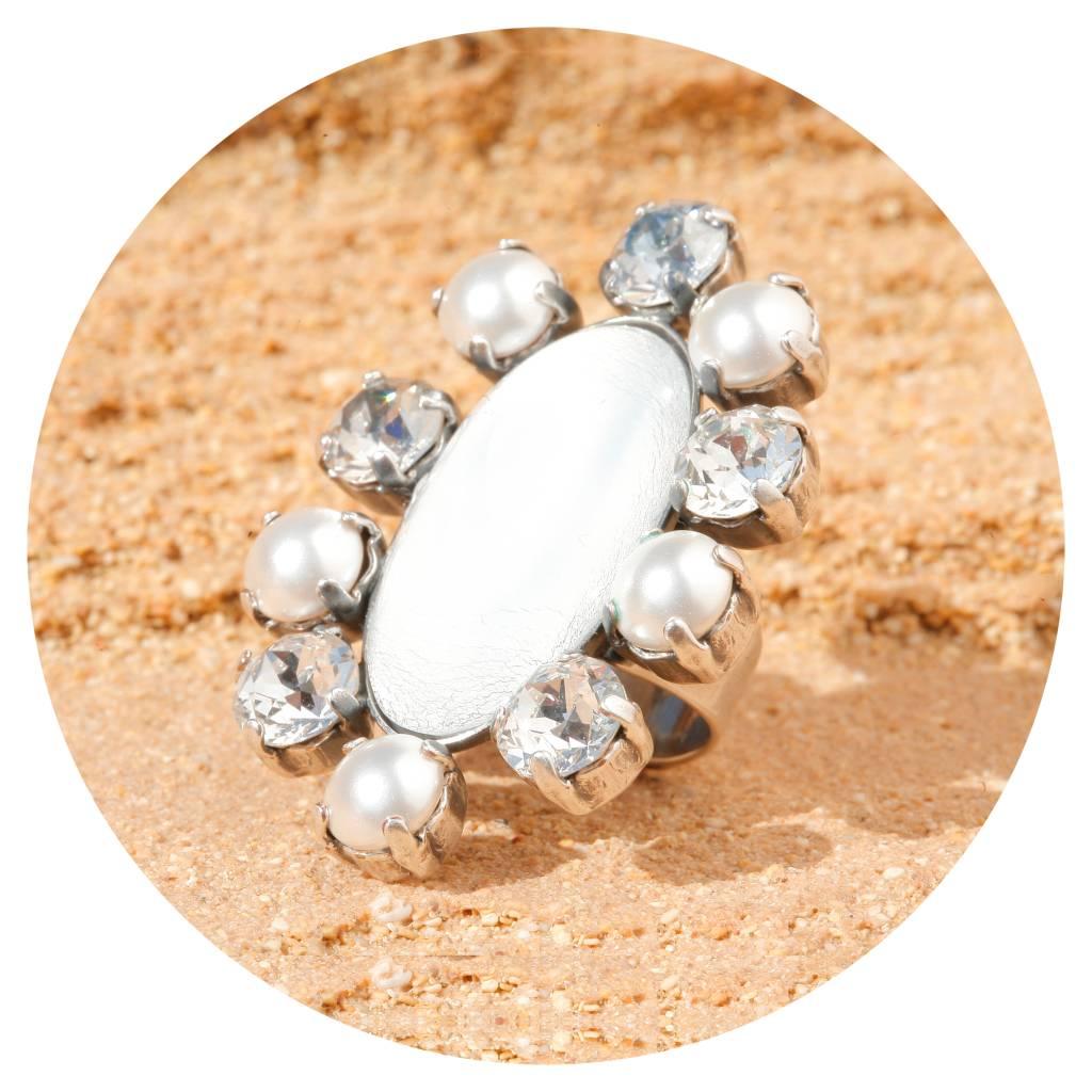 artjany Ring mit crystals & pearls