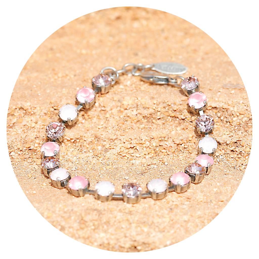 artjany Armband mit crystals in rosa Tönen