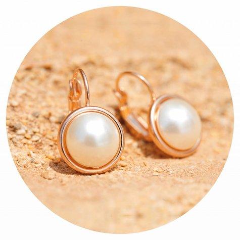 artjany Ohrring mit Perlen in weiss