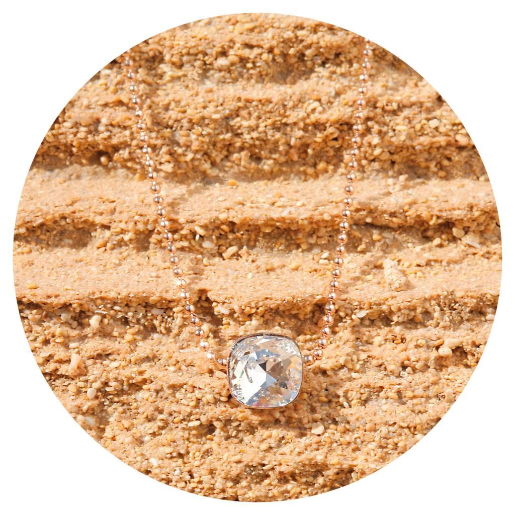 artjany Kette mit einem Kristall in crystal