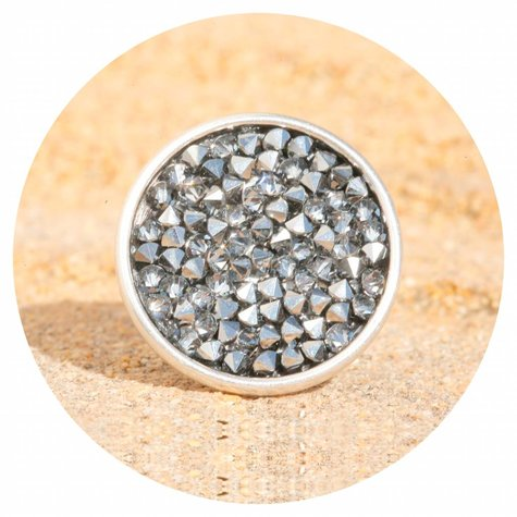 artjany Ring mit crystals rocks in chrome