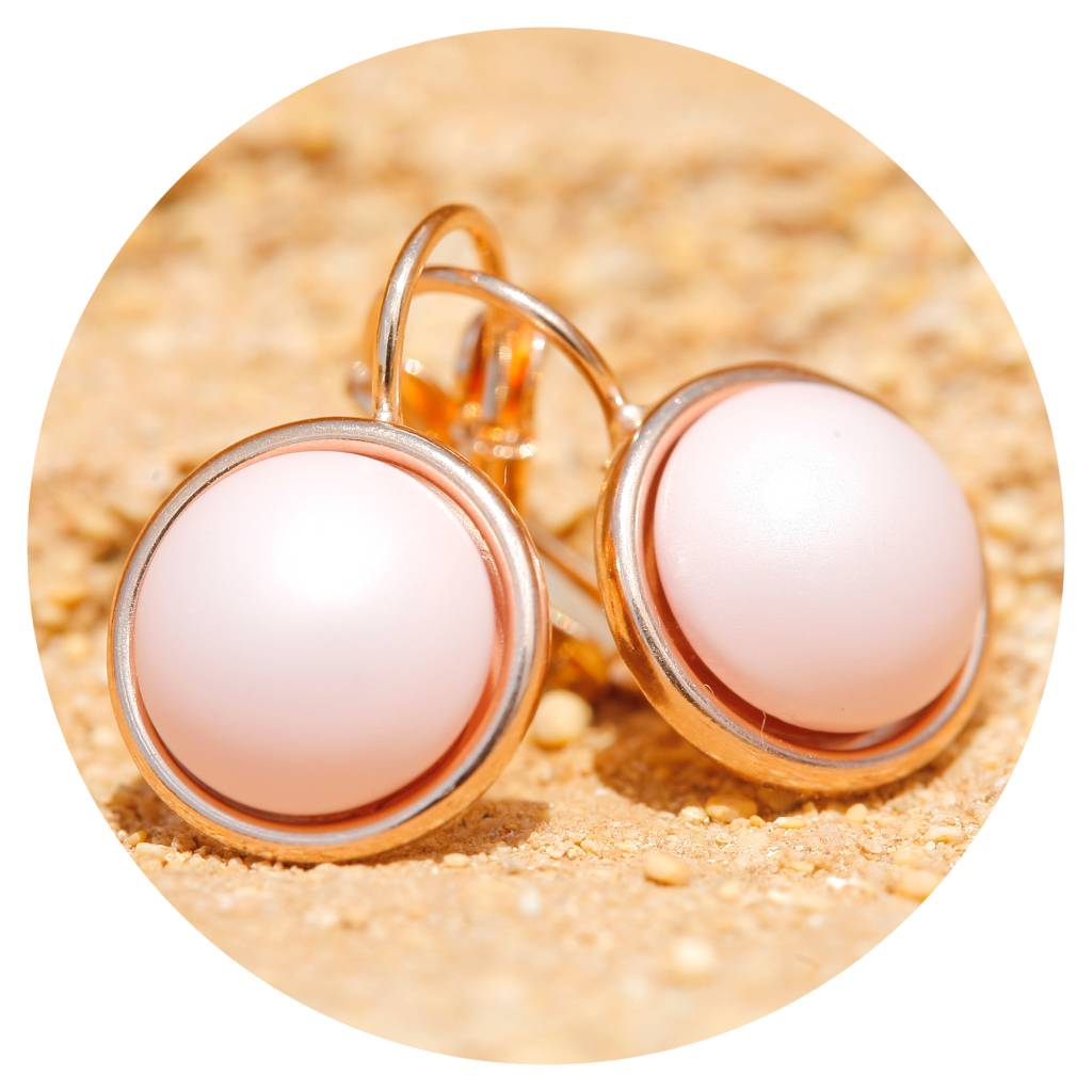 artjany Ohrring mit Perlen in pastell rose pearl