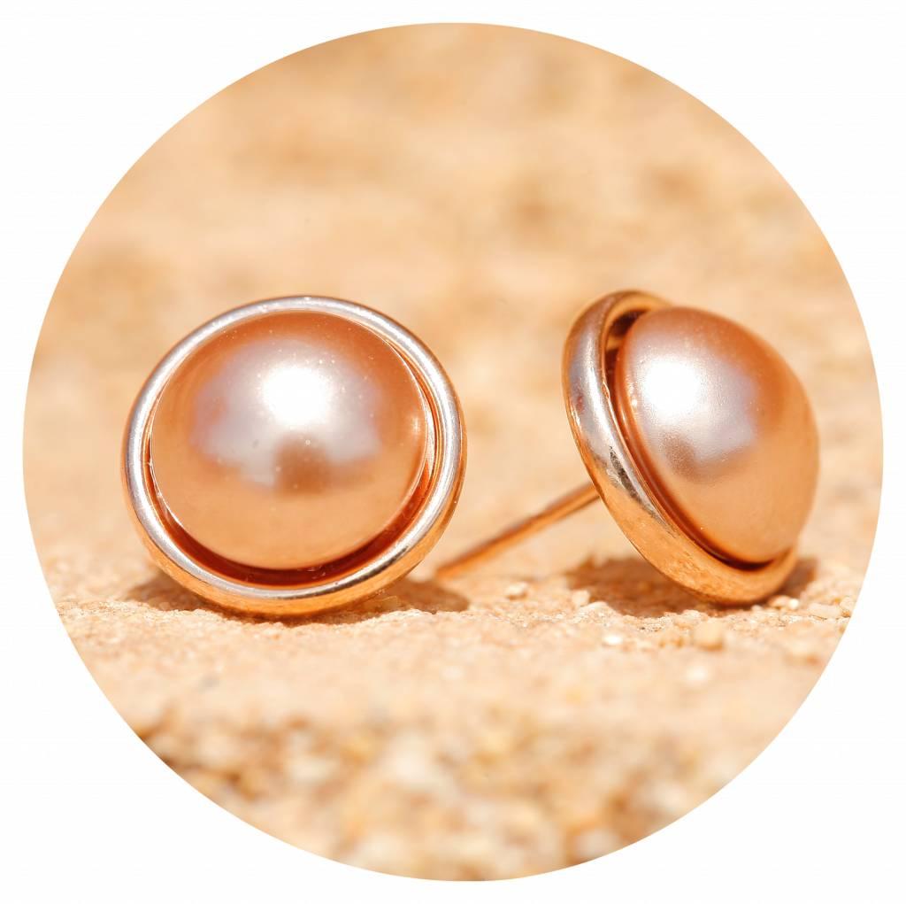 artjany Ohrstecker mit Perlen in rose gold pearl