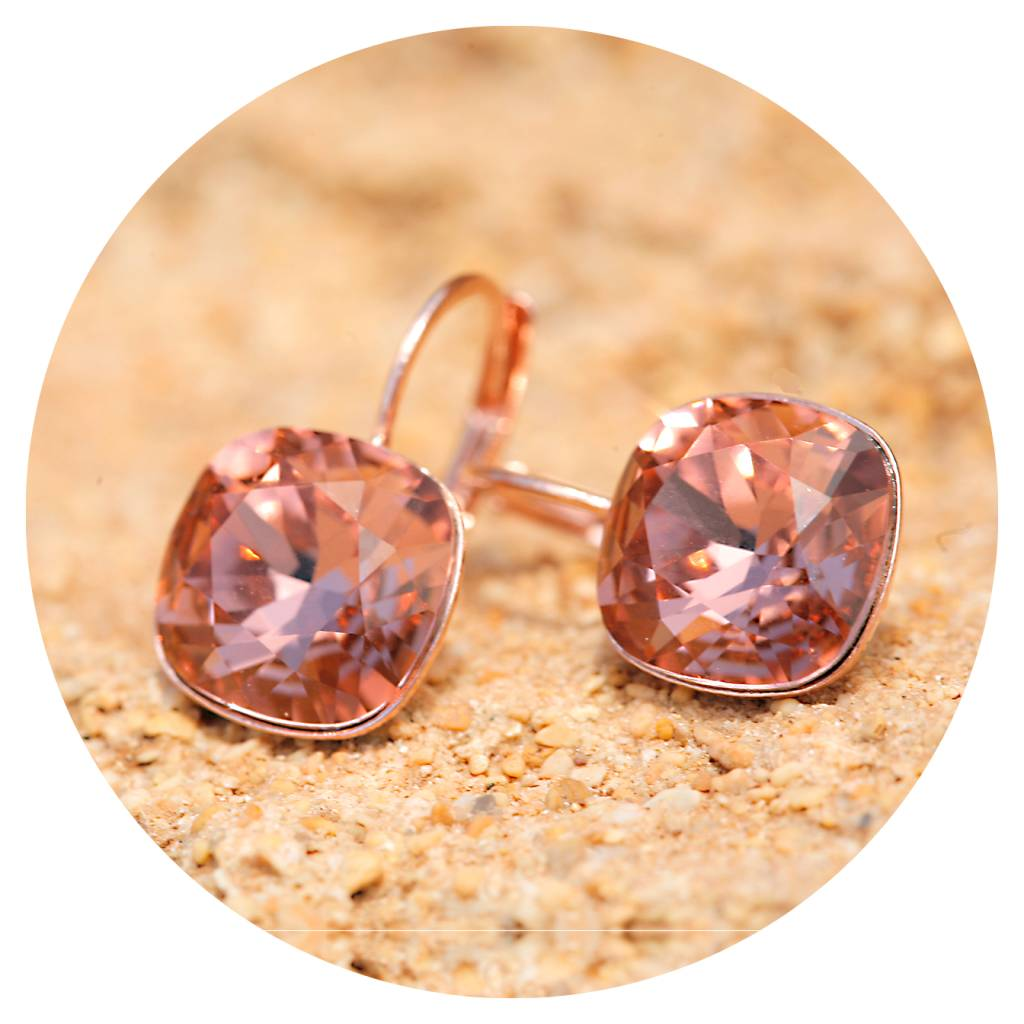 artjany Ohrhänger mit crystals in blush rose