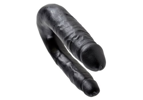 King Cock Double Trouble 33,5 cm - klein, zwart