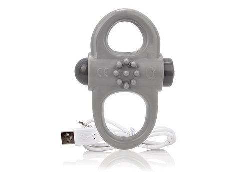 The Screaming O - Charged Yoga Vibe Ring Grijs