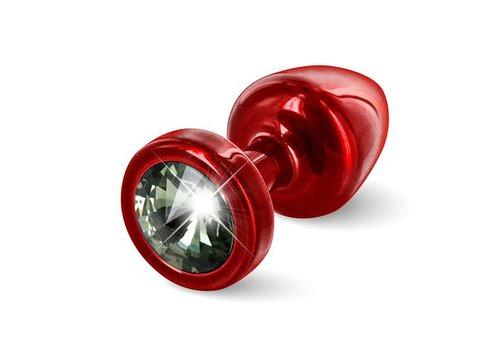 Diogol - Anni Butt Plug Rond 25 mm Rood & Zwart