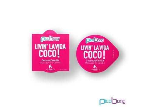 PicoBong - Kokosnoot & Vanille Massage Olie Kaars