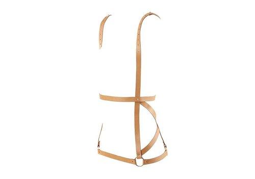 Bijoux Indiscrets - Maze Arrow Dress Harness Bruin