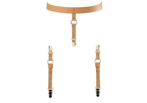 Bijoux Indiscrets - Maze Suspender Belt Ondergoed & Kousen Bruin
