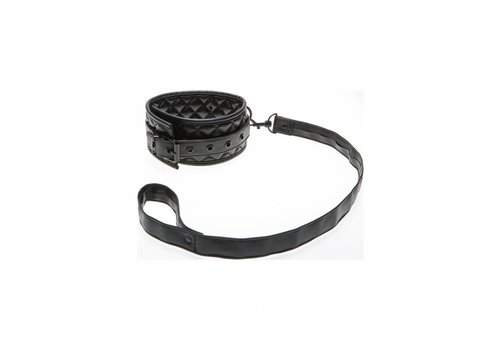 Quilted Collar with Leash