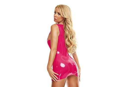 Latex Mini Jurkje - Roze