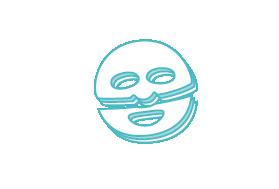 Die Maske mit 3 Lagen