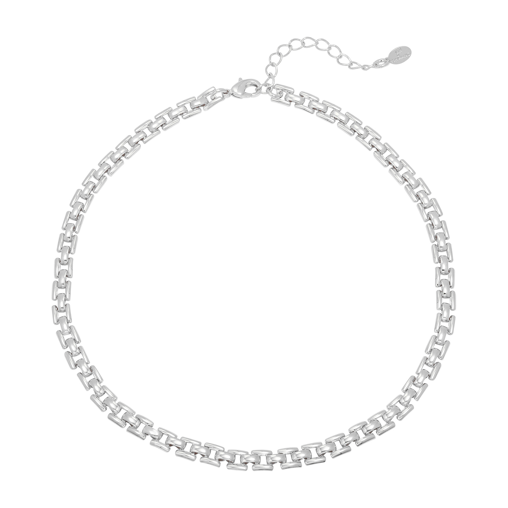 By Moise KETTING SQUARE CHAIN ZILVER