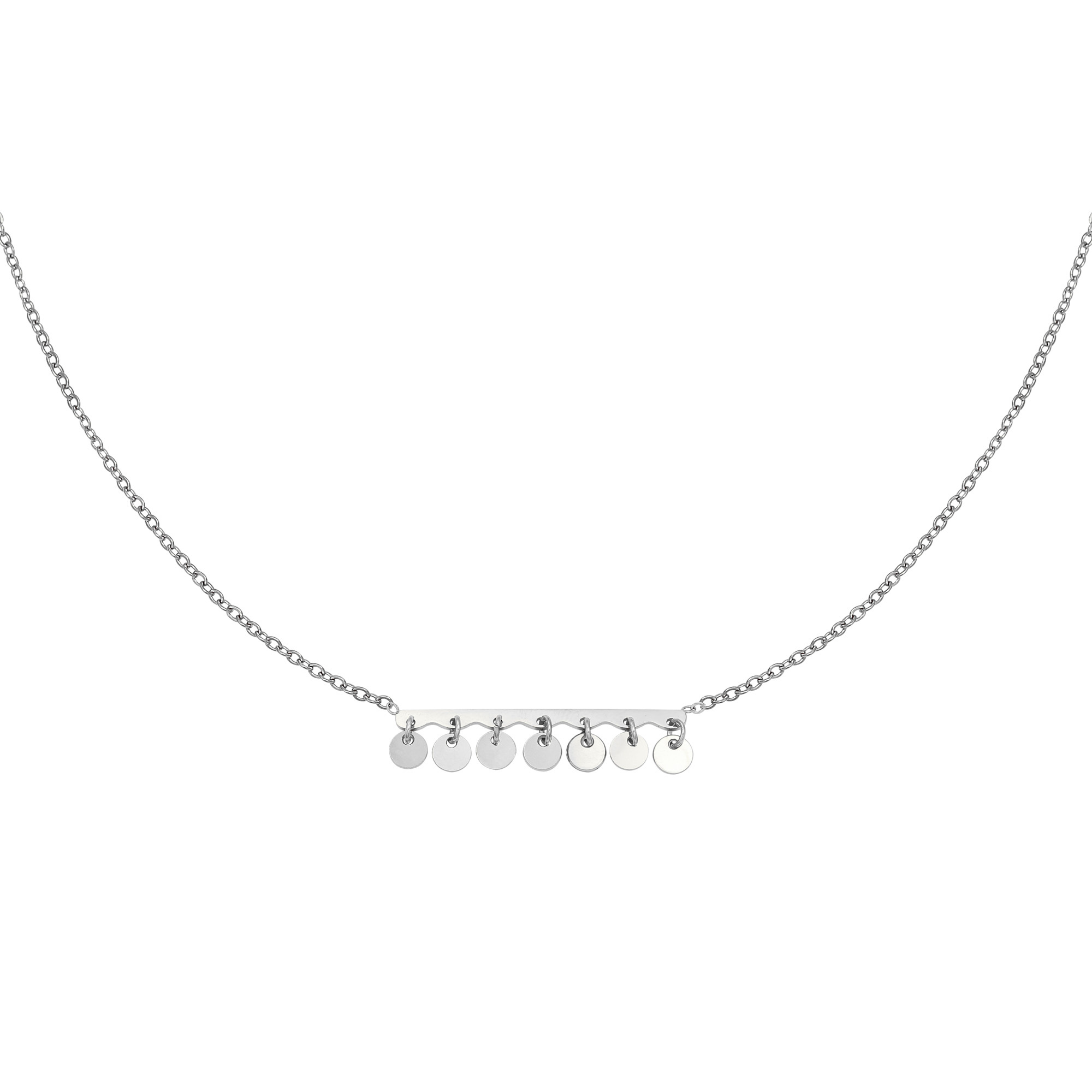 By Moise KETTING CONFETTI ZILVER