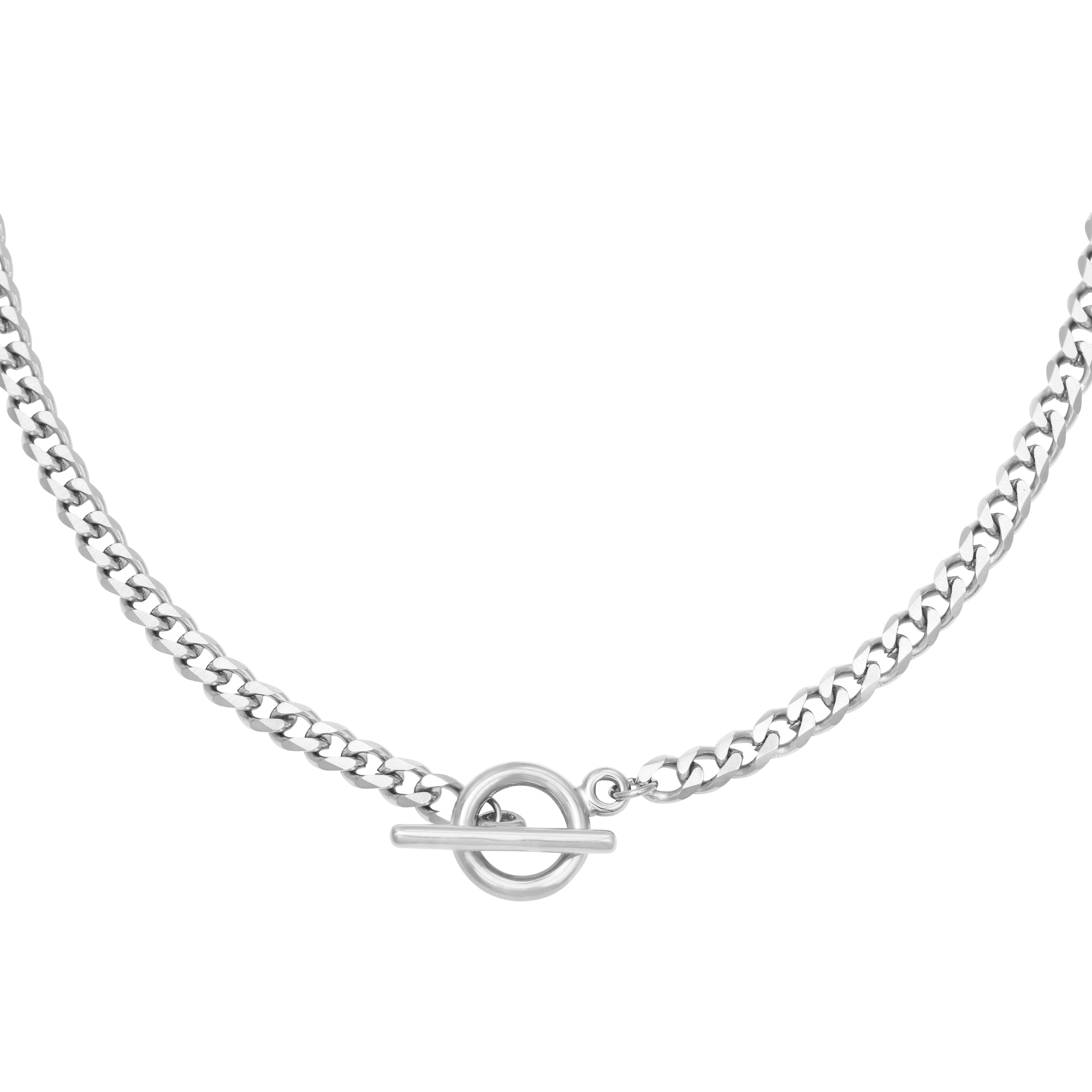By Moise BIG CHAIN NECKLACE SILVER