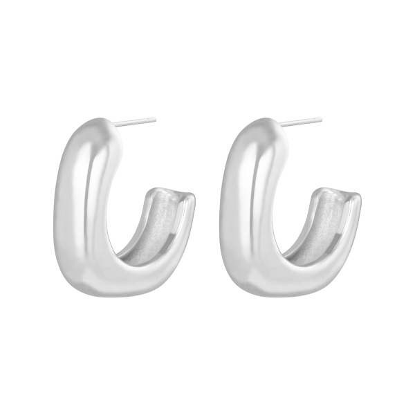 By Moise EARRINGS GLAM SQUARE ZILVER