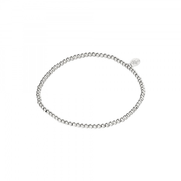 ARMBAND SMALL BEADS ZILVER