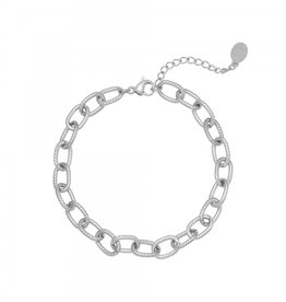 By Moise ARMBAND CHISELED CHAIN ZILVER
