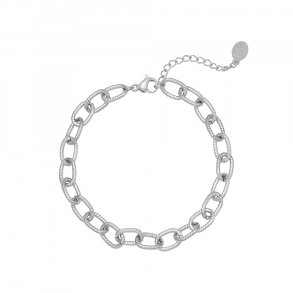 ARMBAND CHISELED CHAIN ZILVER