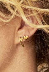 By Moise EARRINGS BOLD HEART GOUD