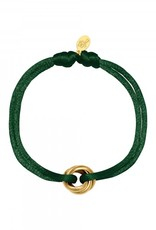 By Moise ARMBAND SATIN KNOT GROEN
