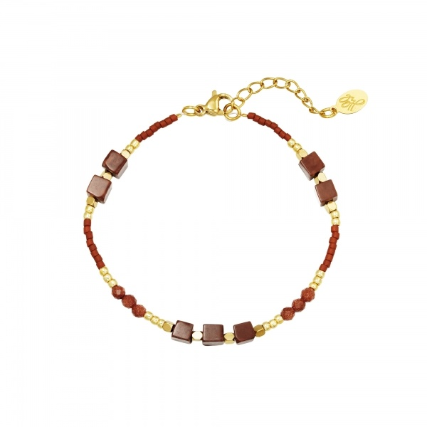 By Moise ARMBAND ALL NATURAL BRUIN