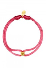 By Moise ARMBAND SATIN CUBE HEART ROOD