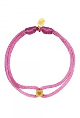 By Moise ARMBAND SATIN CUBE HEART PAARS