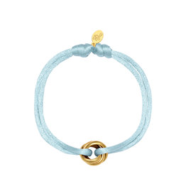 By Moise ARMBAND SATIN KNOT BLAUW