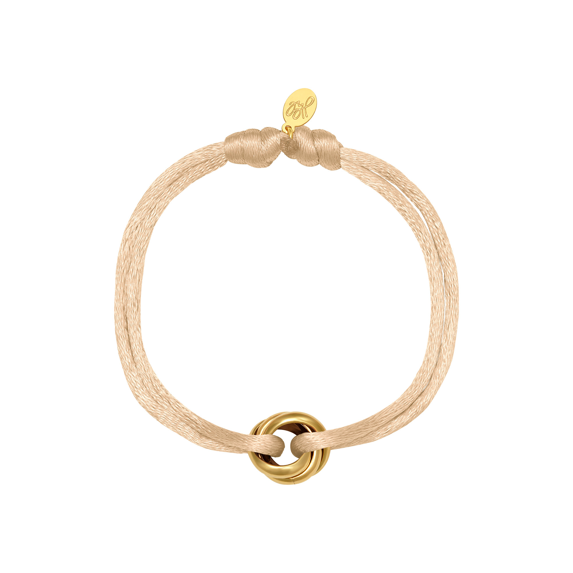 By Moise ARMBAND SATIN KNOT GEEL