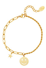 By Moise ARMBAND SMILEY STAR GOUD