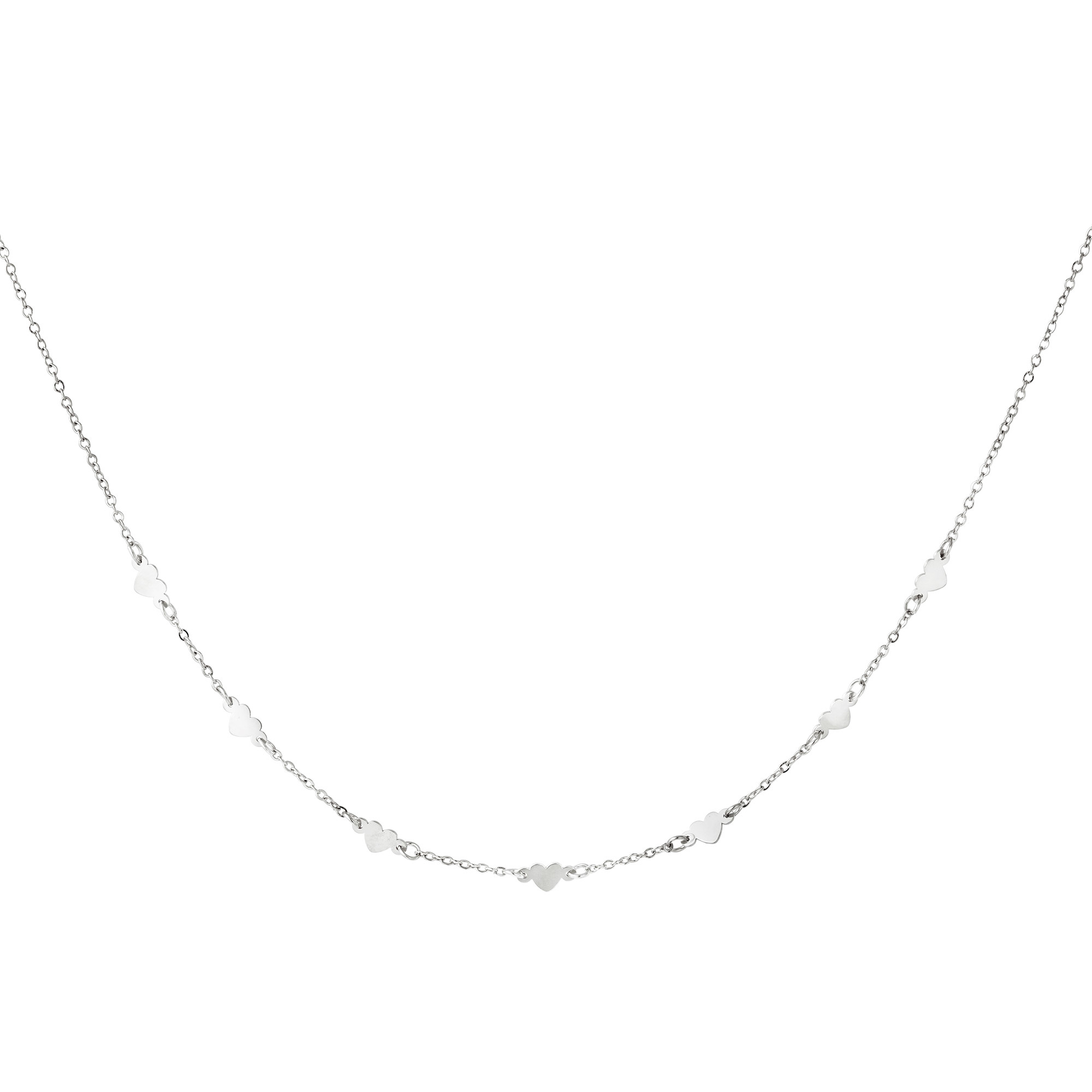 By Moise KETTING HEARTS ZILVER