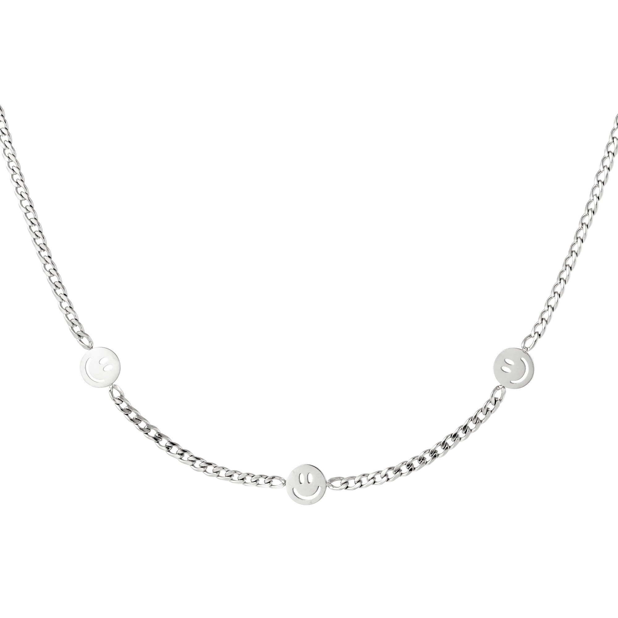 By Moise KETTING 3 SMILEYS ZILVER