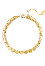 By Moise ARMBAND DOUBLE GOUD