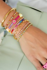 By Moise ARMBAND MULTICOLOR BEADS